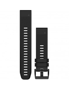 Fenix 5x 22mm QuickFit Black Silicone Band