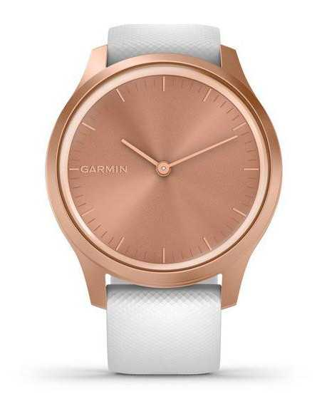 010-02240-20  Garmin Vivomove Style Rose Gold / White band