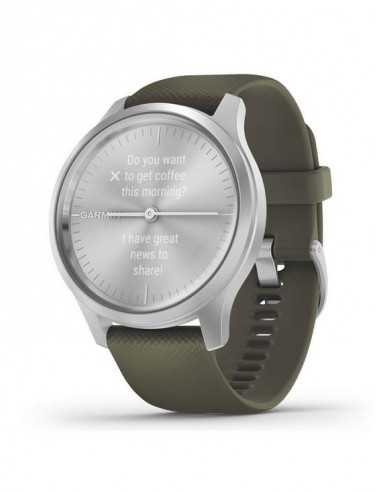 010-02240-21 Garmin Vivomove Style Silver / Mose Green band