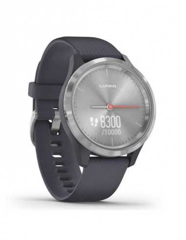 010-02238-20 Garmin VivoMove3s Silver / Granite Blue band