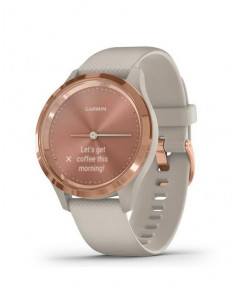 010-02238-22  Garmin VivoMove 3s  Rose Gold / Light Sand band