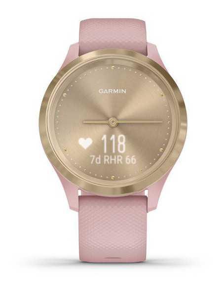 010-02238-21 Garmin VivoMove 3s  Light Gold / Rose band