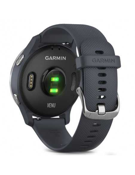 010-02173-03  Garmin Venu Silver/BlueGranite band