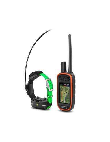 Garmin Alpha 100 su TT15 mini antkakliu (šunų sekimo GPS ir nuotolinio dresavimo įrenginys)