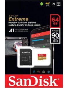 Atminties kortelė SanDisk Extreme microSD 64Gb + Adapter