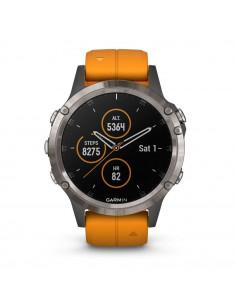 Laikrodis Garmin Fenix 5 Plus Sapphire ( Titaninis su Oranžiniu dirželiu )