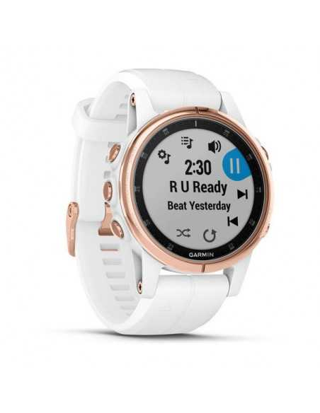 Laikrodis Garmin Fenix 5S Plus Sapphire, Rose Gold-tone with White Band