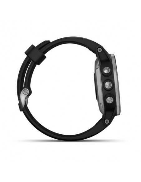 Laikrodis Garmin Fenix 5S Plus Silver with Black Band
