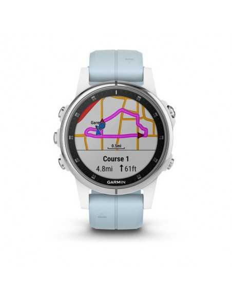 Garmin fenix 5S Plus Sapphire White with White Band