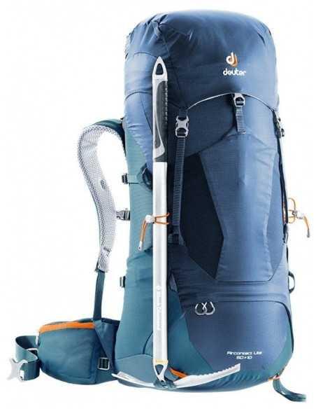 Trekking backpack AIRCONTACT LITE 40 + 10 black-graphite (black-grey)