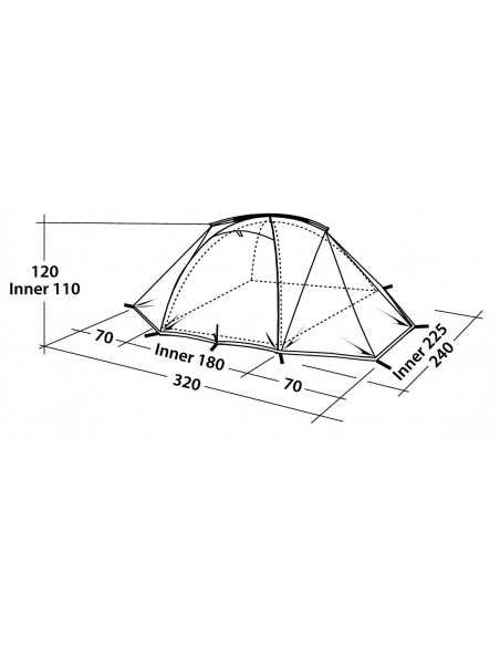 Robens Tent Lodge 3 3 person(s), Green