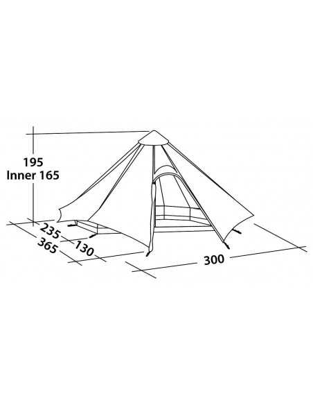 Robens Tent Green Cone 4 person(s), Green