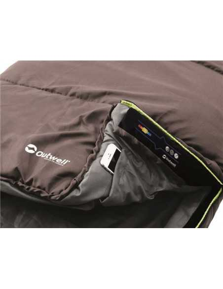 Outwell Campion Lux, Sleeping bag, 225 x 140 cm, 5/-1/-16 °C, Brown