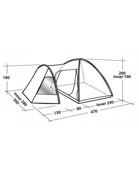 Easy Camp Tent Eclipse 500 5 person(s), Green