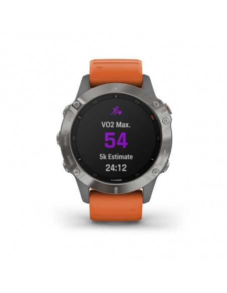 Garmin Fenix 6 Sapphire Titanium Gray/Orange Band