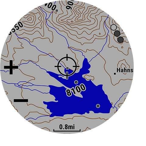 Garmin Fenix 5 Plus žemėlapiai