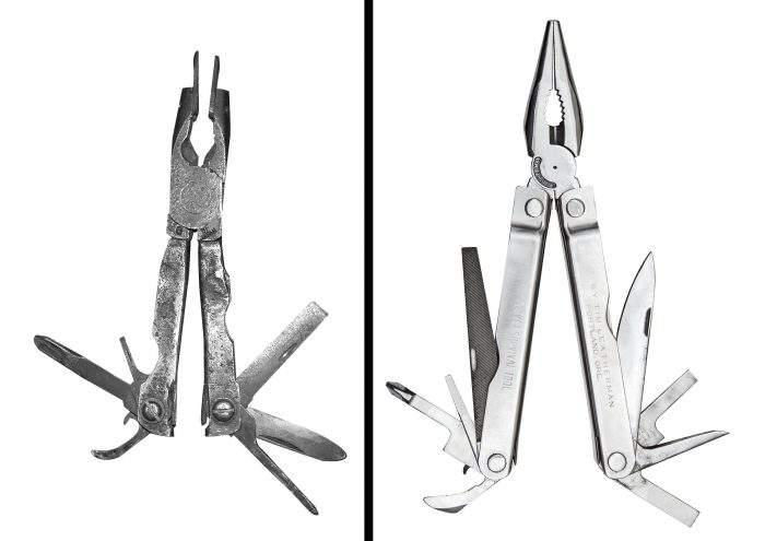 leatherman multi įrankių prototipai
